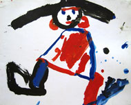 Self-portrait, aged 4